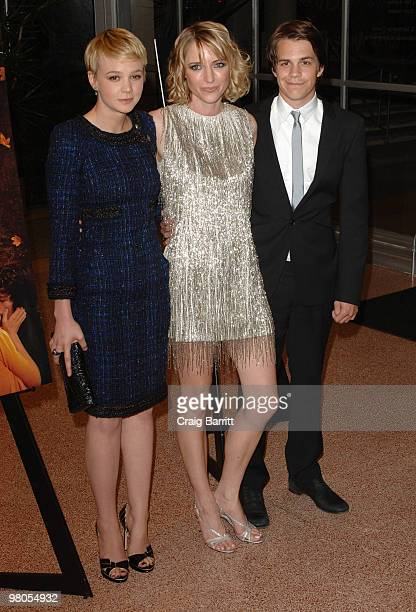 """Carey Mulligan, Shana Feste and Johnny Simmons arrives at """"The Greatest"""" Los Angeles Premiere at Linwood Dunn Theater at the Pickford Center for..."""