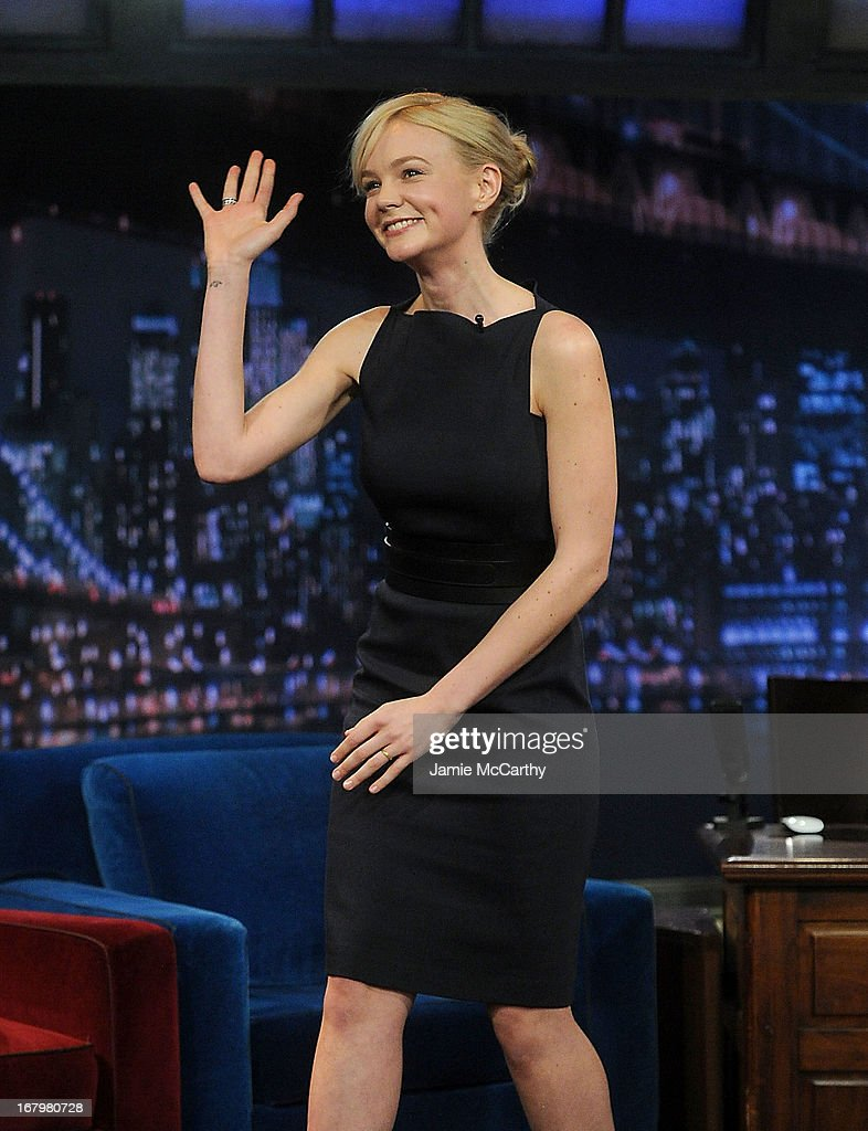 Carey Mulligan visits 'Late Night With Jimmy Fallon' at Rockefeller Center on May 3, 2013 in New York City.