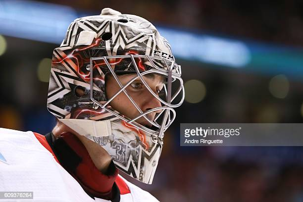 Carey Price of Team Canada looks on against Team USA during the World Cup of Hockey 2016 at Air Canada Centre on September 20 2016 in Toronto Ontario...