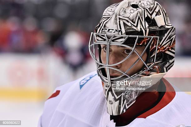 Carey Price of Team Canada warms up prior to a game against Team USA during the World Cup of Hockey 2016 at Air Canada Centre on September 20, 2016...