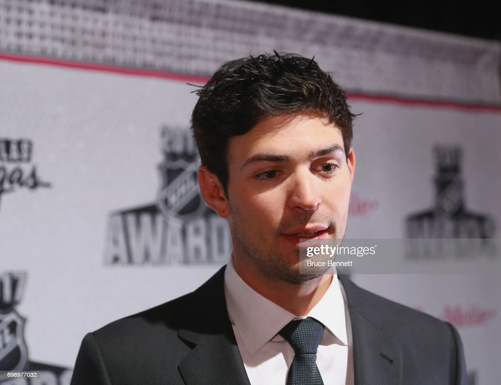 Carey Price of the Montreal Canadians is interviewed during media availability for the 2017 NHL Awards at the Encore Las Vegas on June 20, 2017 in Las Vegas, Nevada.