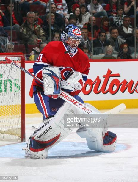Carey Price of the Montreal Canadiens controls a rebound against the Ottawa Senators at the Bell Centre on March 13, 2008 in Montreal, Quebec, Canada.