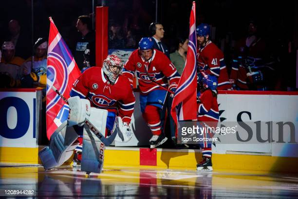 Carey Price of the Montreal Canadiens enters the ice surface before the first period of the NHL game between the Nashville Predators and the Montreal...