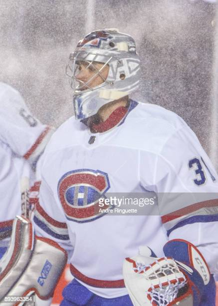 Carey Price of the Montreal Canadiens guards his net against the Ottawa Senators in the 2017 Scotiabank NHL100 Classic at Lansdowne Park on December...