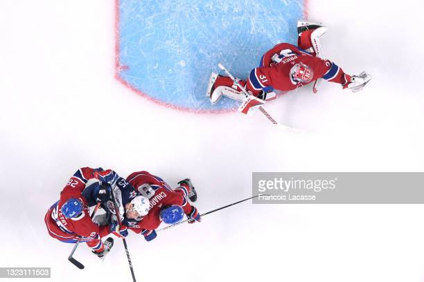 June 6: Carey Price of the Montreal Canadiens makes a glove save against the Winnipeg Jets in Game Three of the Second Round of the 2021 Stanley Cup...