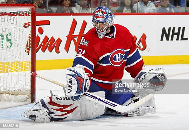 Carey Price of the Montreal Canadiens makes a save against the New Jersey Devils during their NHL game at the Bell Centre December 6 2008 in Montreal...