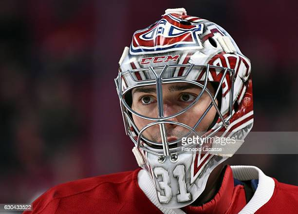 Carey Price of the Montreal Canadiens prior the NHL game against the Minnesota Wild in the NHL game at the Bell Centre on December 22 2016 in...