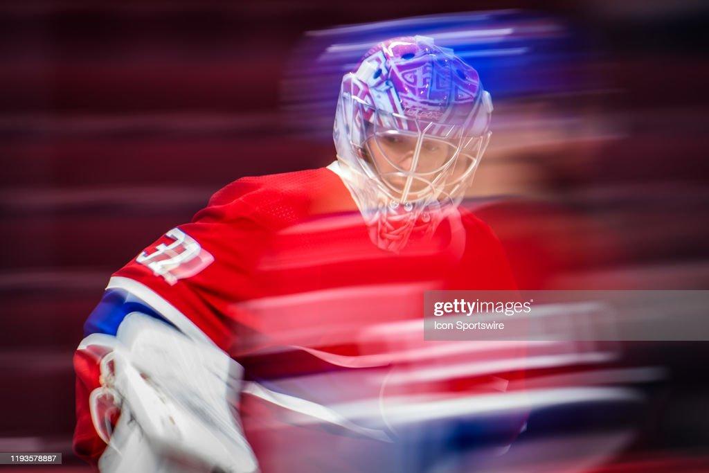 NHL: JAN 13 Flames at Canadiens : News Photo