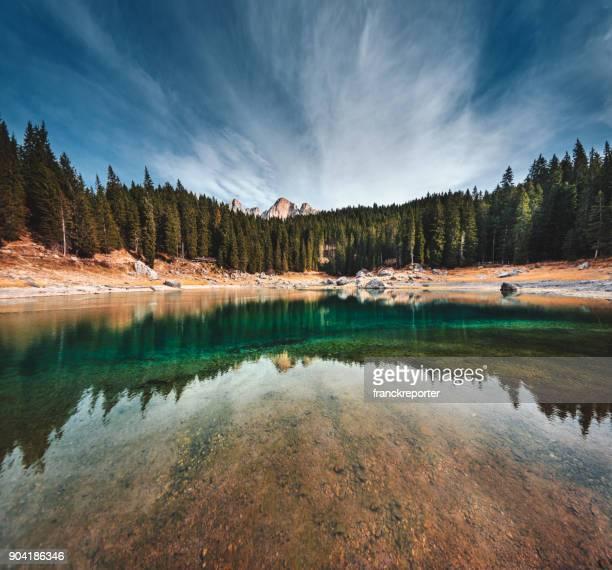Carezza lake in south tyrol