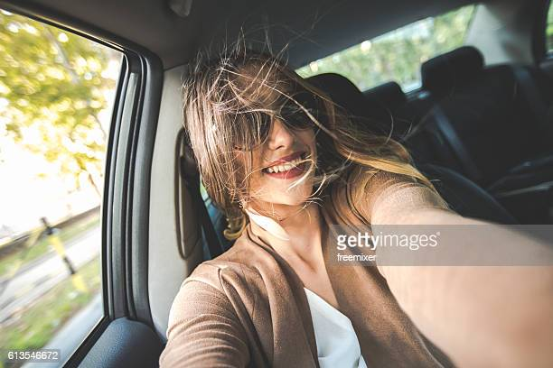 Carfie (selfie in the car)