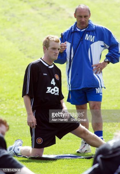 New signing Brian Kerr comes under the close scrutiny of assistant manager Maurice Malpas