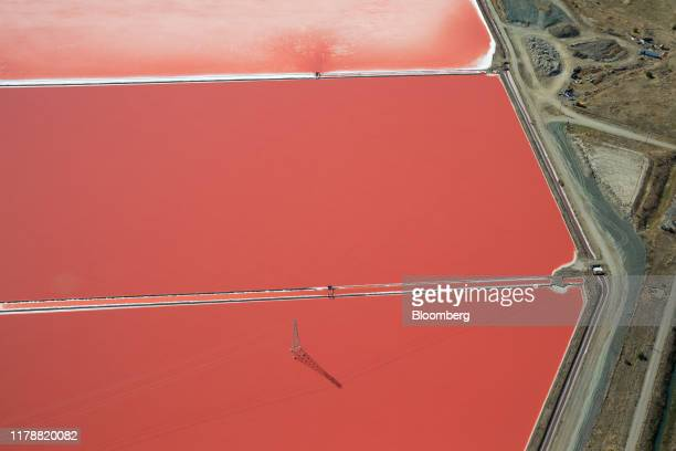 Cargill Inc. Salt ponds are seen in this aerial photograph taken above Newark, California, U.S., on Wednesday, Oct. 23, 2019. California and...