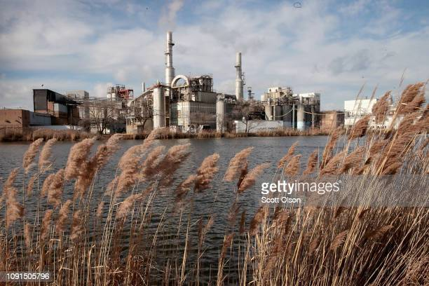Cargill plant dominates the landscape along Wolf Lake on the edge of Forsythe Park on January 08 2019 in Hammond Indiana According to a report from...
