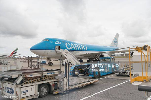 klm cargo aircraft - schiphol airport stock photos and pictures
