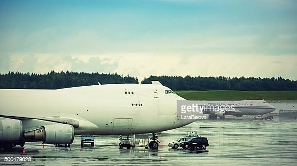 Cargo aircrafts in Anchorage Airport