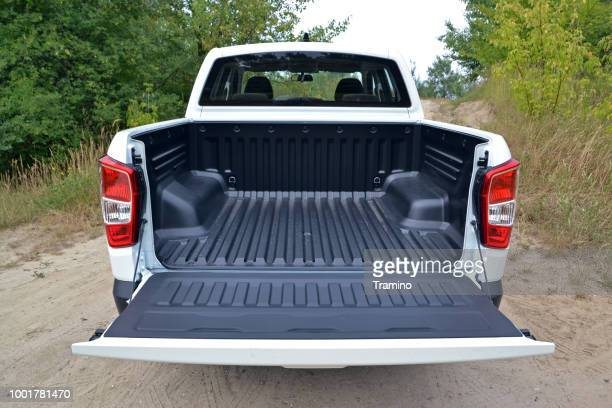 cargo bed in ssangyong pick-up truck - pick up truck stock pictures, royalty-free photos & images