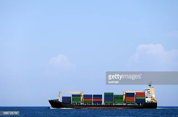 cargo boat - cargo ship stock pictures, royalty-free photos & images