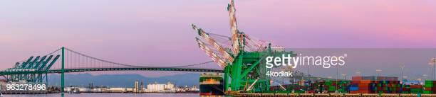 cargo container harbor, long beach  california - port of los angeles stock pictures, royalty-free photos & images