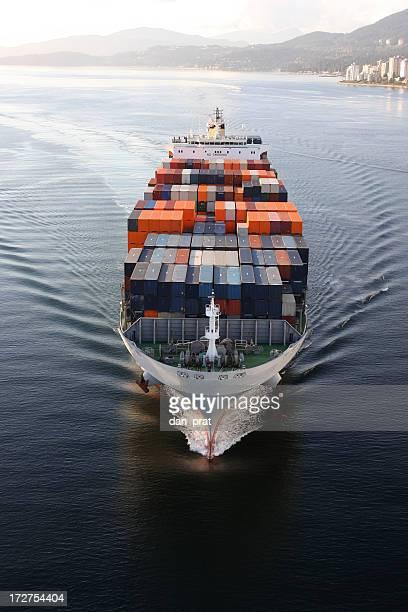 container ship - frachtschiff stock-fotos und bilder