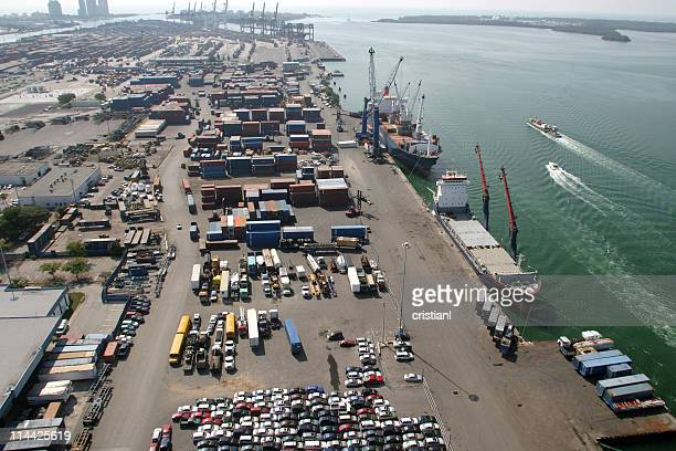 Cargo containers at Miami's port