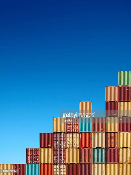 cargo containers chart - container stock pictures, royalty-free photos & images