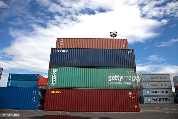 Cargo containers in Koper port Slovenia