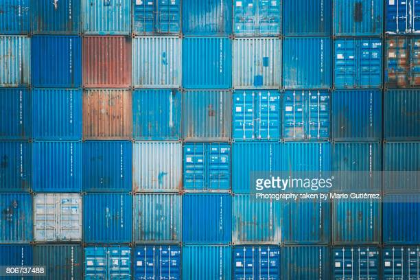 cargo containers - heavy industry stock photos and pictures
