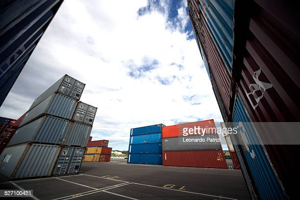 Cargo containers stuck in Koper port Slovenia