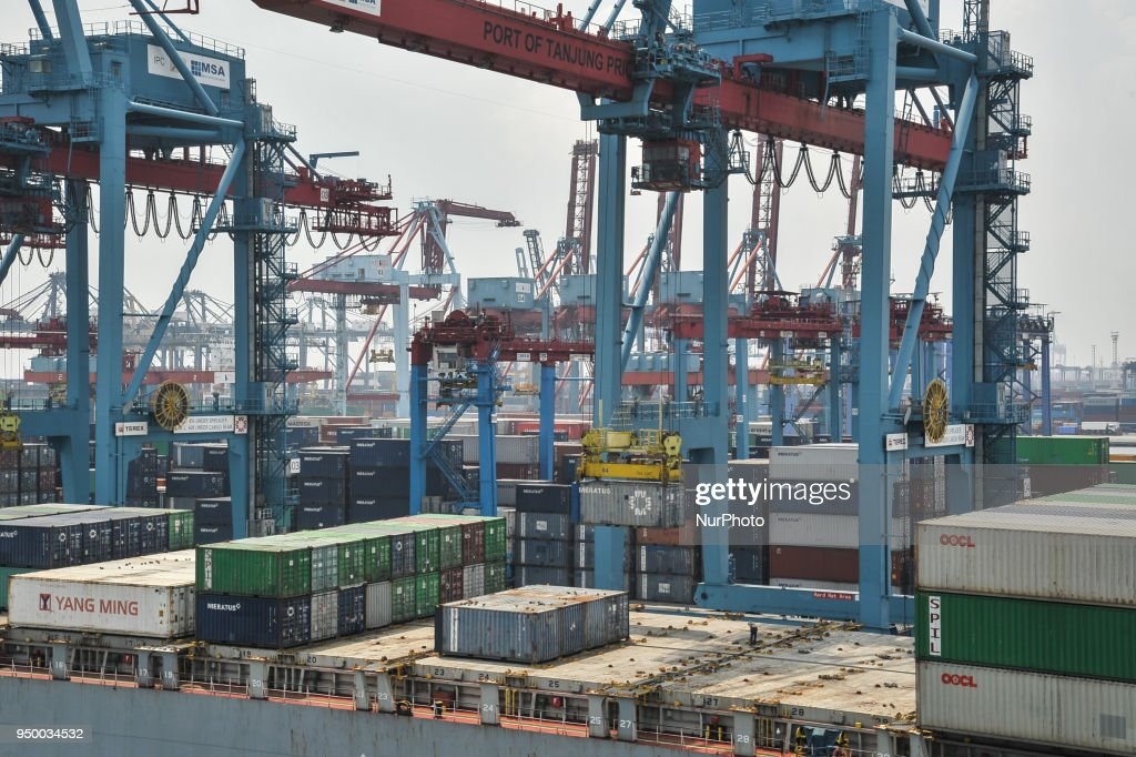 Activity At Port Of Tanjung Priok In Jakarta