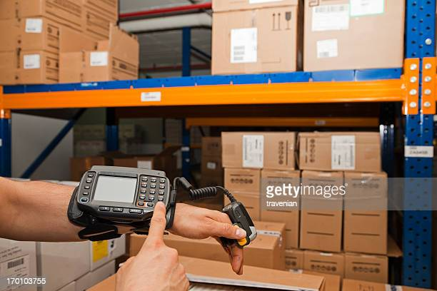 cargo man checking on digital equipment - medical supplies stock pictures, royalty-free photos & images