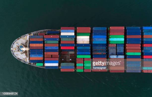 Cargo ship from above