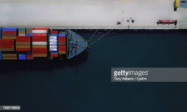 Cargo Ship In Harbor