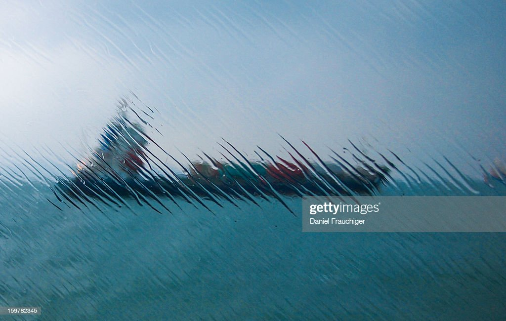 CONTENT] Cargo Ship near Macao Port photographed through ferry window. In Macau, China.
