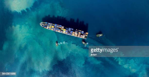 cargo ship - heavy industry stock photos and pictures