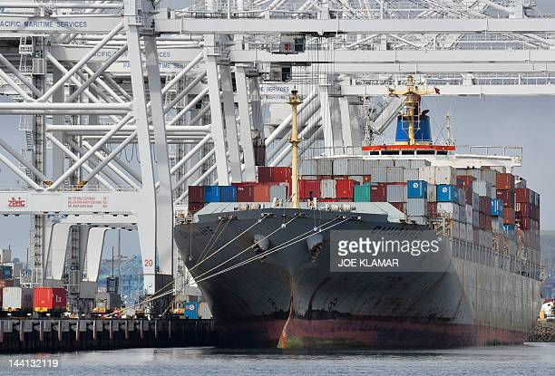 A cargo ship stands on Long Beach harbour California in this April 26 file photo The Port of Long beach is the leading trade gateway between the US...