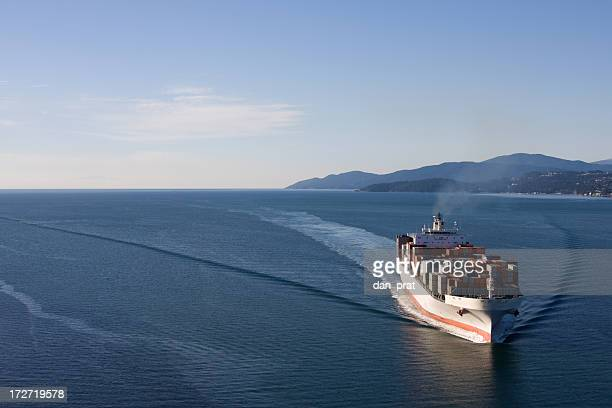 Cargo Ship Wide Angle View