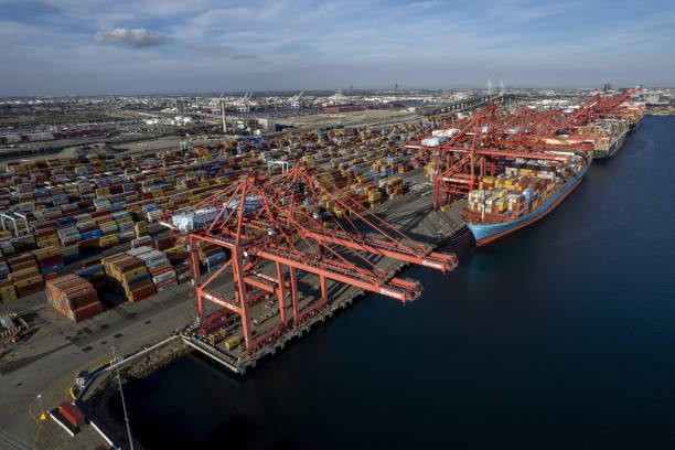 CA: Port Of Long Beach As Shipping Gridlock Stretches Supply Lines Thin