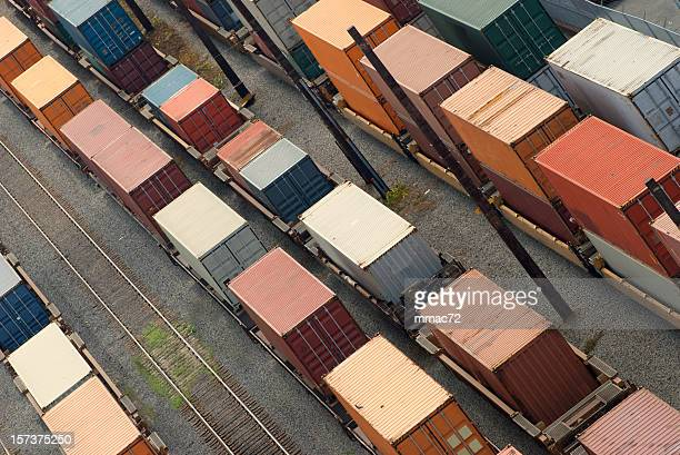 cargo train - rail freight stock pictures, royalty-free photos & images