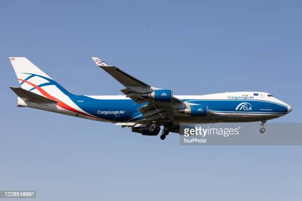 CargoLogicAir Boeing 747 lands at London Heathrow Airport, England on Monday 14th September 2020.
