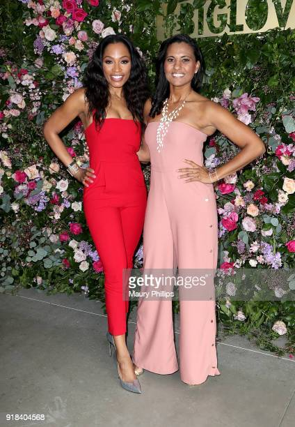 Cari Champion and Christine Simmons attend Big Love Fest Women's Networking Event at The Jeremy Hotel on February 14 2018 in Los Angeles California