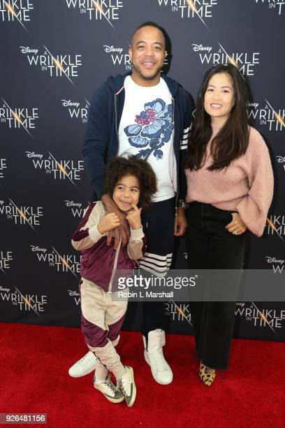 Cari David and Jax Gross attend Disney's 'A Wrinkle In Time' to Compton at Douglas F Dollarhide Community Center on March 2 2018 in Compton California