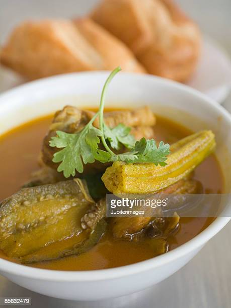 cari ga or vietnamese chicken curry - cari stock pictures, royalty-free photos & images