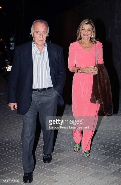 Cari Lapique and Carlos Goyanes attend the 40th birthday party of the Spanish model Nieves Alvarez on March 28 2014 in Madrid Spain