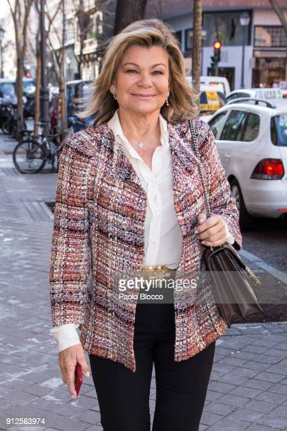 Cari Lapique arrives at 'The Petite Special Day' fashion show at the Santo Mauro Hotel on January 31 2018 in Madrid Spain