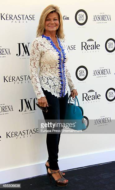 Cari Lapique attends Jorge Vazquez Catwalk at French Ambassador Residence on September 11 2014 in Madrid Spain