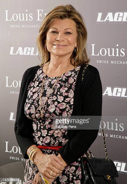 Cari Lapique attends Team LaGlisse new official watch presentation photocall at Blablabla bar on March 28 2012 in Madrid Spain