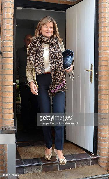 Cari Lapique attends the birthday of Nuria Gonzalez on April 15 2013 in Madrid Spain