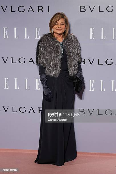 Cari Lapique attends the Eugenia Silva's birthday at the Museum at the El Museo del Traje on January 21 2016 in Madrid Spain