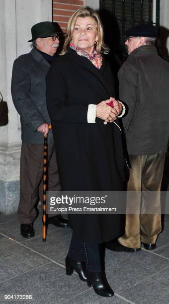 Cari Lapique attends the funeral mass for Carmen Franco daughter of the dictator Francisco Franco at the Francisco de Borja church on January 11 2018...
