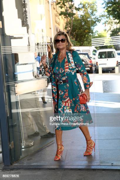 Cari Lapique attends 'The Petite Fashion Week' Photocall at Cibeles Palace on October 6 2017 in Madrid Spain